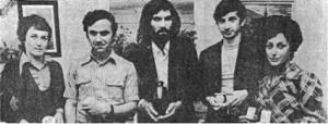 Lauréats des prix 1973 : Mlle Pons, MM. Rodier, Baudeau, Bonou et Mlle Dauriac