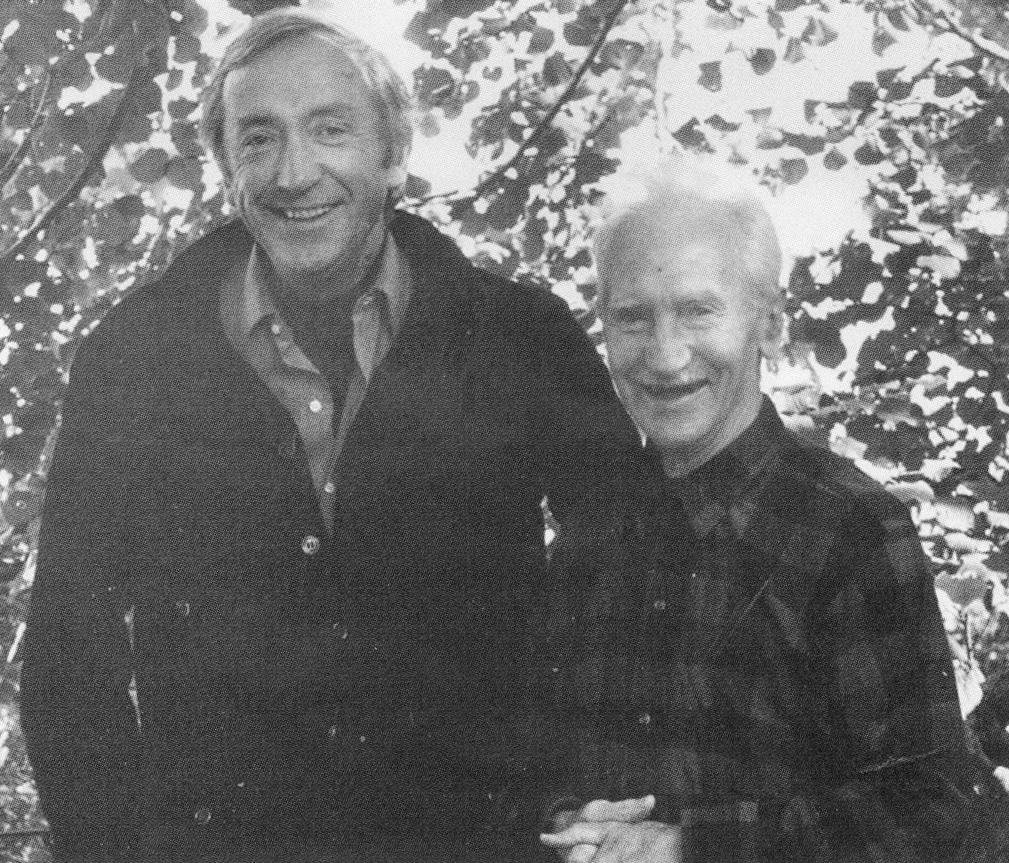 Pierre Soulages et Joseph Delteil à la Tuilerie de Massane
